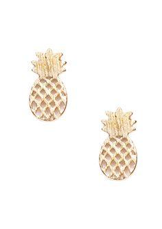 Pineapple Stud Earrings 14,90€ #happinessbtq