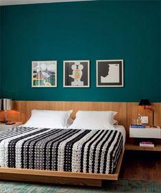 ideas for bedroom interior colour bedside tables Decor, Interior, Green Wall Color, Home Bedroom, Bedroom Interior, Home Decor, Bedroom Inspirations, Blue Bedroom, Interior Design