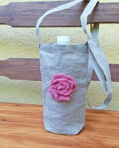 Linen Bag, Burlap, Reusable Tote Bags, Bottle, Water, Fashion, Gripe Water, Moda, Hessian Fabric