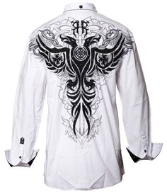 Style Addiction - Roar White Afterlife II Shirt, $94.99 (http://www.styleaddiction.com/roar-white-afterlife-ii-button-up-shirt/)