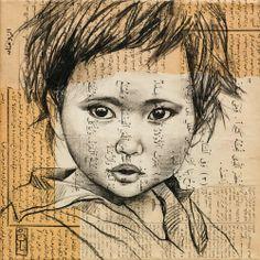 Enfant des montagnes berbères de Tabant (Maroc)   Stephanie Ledoux People Illustration, Illustration Art, Illustrations, Travel Sketchbook, Ledoux, Precious Children, Impressionist Art, Cool Art Drawings, Crayon