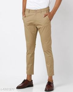 Trousers Regular Fit Men's Trousers Fabric: Cotton Pattern: Solid Type:Stiched Multipack: 1 Sizes:  S (Waist Size: 28 in Length Size: 40 in)  M (Waist Size: 30 in Length Size: 40 in)  L (Waist Size: 32 in Length Size: 40 in)  XL (Waist Size: 34 in Length Size: 40 in)  XXL (Waist Size: 36 in Length Size: 40 in)  Country of Origin: India Sizes Available: 28, 30, 32, 34, 36   Catalog Rating: ★4 (401)  Catalog Name: Ravishing Unique Men Trousers CatalogID_1098562 C69-SC1212 Code: 854-6881277-8901