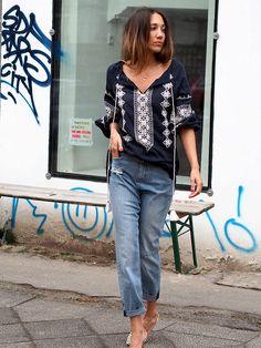 #boho #bohemian #coachella #coachella2016 #streetstyle #berlin #denim #jeans #highwaist #momjeans #hm #starmela #ethno #cropped #ootd #helloshopping #offshoulder #trends #style #instyle #elle #madame #cosmopolitan #vogue #whowhatwear