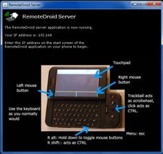 Convert Android handset into wireless mouse and keypad