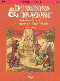 B8 Journey to the Rock (Basic) | Book cover and interior art for Dungeons and Dragons Basic and Expert Editions - Dungeons & Dragons, D&D, DND, Basic, Expert, 1st Edition, 1st Ed., 1.0, 1E, OSRIC, OSR, Roleplaying Game, Role Playing Game, RPG, Wizards of the Coast, WotC, TSR Inc. | Create your own roleplaying game books w/ RPG Bard: www.rpgbard.com | Not Trusty Sword art: click artwork for source