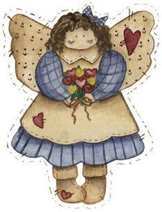 Dibujos de angeles para imprimir , angeles para usar en manualidades, en detalles para niños, en actividades como el decoupage o para las e...