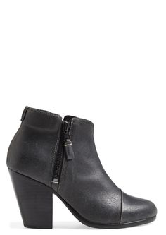 A block heel grounds a svelte little bootie—exemplifying rag & bone's edgy-yet-understated New York aesthetic that is casual enough for everyday wear.