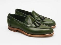 #loafer #green #man #shoe