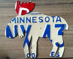 Moose by LicensePlateArts on Etsy