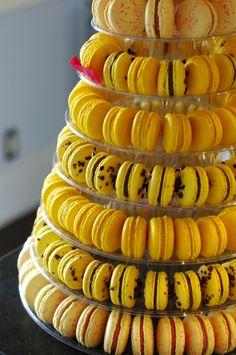 Yellow Macaron Tower #yourworldiscolour #yellow