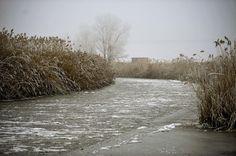 Olyan hideg van, hogy befagyott a folyó/Fotó: MTI -Czeglédi Zsolt Ecsegfalva