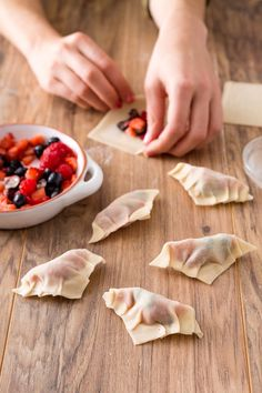 Make these sweet and savory breakfast pot stickers to fulfill all your brunch time desires.