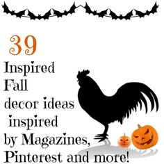 Fall 2012 Debbiedoo's magazine copy cat challenge for Fall Decor