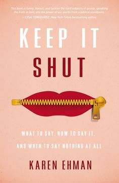 Keep It Shut book + Bible study by Karen Ehman on sale at Christian Book ($5 for members).