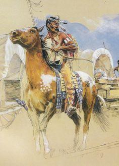 IMEHA Native American Historical Plains Costumes from National Geographic Magazine,kK Native American Paintings, Native American Wisdom, Indian Paintings, Cool Paintings, Native American Indians, Native Indian, Native Art, Indiana, Western Art