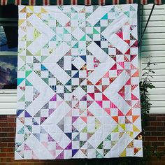 Beautiful!   created by Sel - Mad Quilters Disease #intulawoven #tulapink #aussiecharmalong