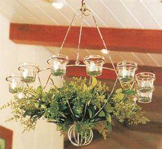 Basket Candle Chandelier