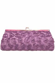 Small Twist Lock Evening Bag With Rosettes
