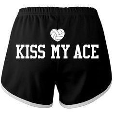 Personalize custom American Apparel volleyball short shorts for practice, to wear to school, or as pajamas to sleep in. Kiss my ace!