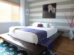 Heather's Horizontal Striped Bedroom — My Bedroom Retreat Contest | Apartment Therapy