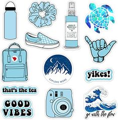 VSCO Vinyl Stickers Waterproof,Aesthetic,Trendy - VSCO Girl Essential Stuff for Water Bottles Stickers Suitable for Photo Sharing, Swimming,Outdoor Bubble Stickers, Phone Stickers, Journal Stickers, Cool Stickers, Collage Mural, Homemade Stickers, Aesthetic Stickers, Aesthetic Iphone Wallpaper, Water Bottles