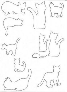 Cat silhouette and like OMG! get some yourself some pawtastic adorable cat shirts, cat socks, and other cat apparel by tapping the pin! Cat Applique, Applique Patterns, Quilt Patterns, Wire Crafts, Felt Crafts, Paper Crafts, Cat Quilt, Cat Silhouette, Sewing Appliques