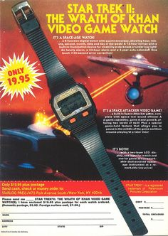 Vintage Star Trek II video game watch (1983)