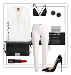 """""""Are U Babe or Nah?"""" by cina-cali on Polyvore featuring Basler, Ted Baker, Christian Louboutin, Chanel and LE VIAN"""
