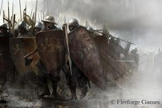 Medieval infantry from Fireforge Games