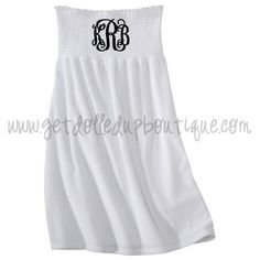White Monogrammed Bathing Suit Cover Up this would be so cute for a honeymoon!