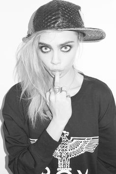 Model Cara Delevigne photographed by Terry Richardson