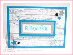 Stampin' Up! rosa Mädchen Kulmbach: Abschiedskarte mit Hardwood und Paarweise