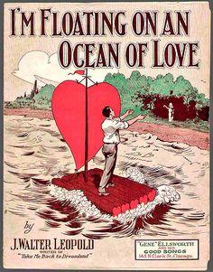 An Ocean of Love  vintage sheet music
