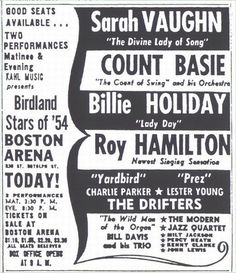 Billie Holiday part of the Birdland All Stars Jazz Poster, Blue Poster, Billie Holiday, Blues Rock, Female Songs, Paul The Apostle, You Rock My World, Count Basie, Vintage Concert Posters