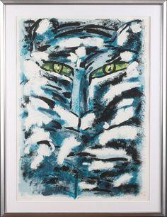 MADELEINE PYK. Tiger, litografi, signerad och numrerad 178/230.
