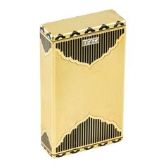 I would definitely own this.  MARSHAK Art Deco Diamond Gold Enamel Two Section Box  $8,500