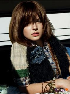 l'oreal hair color - luocolor - brunette / brown hair short bob with bangs