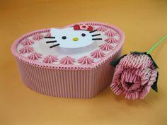 3D Origami - Hello Kitty Cake