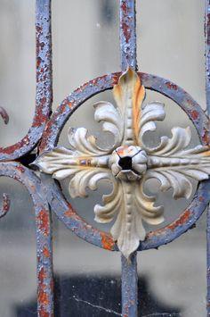 wrought iron gate detail