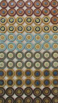 "handmade 3"" round tiles"