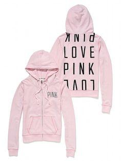 Funnel Neck Perfect Zip Hoodie - Victoria's Secret PINK - Victoria's Secret