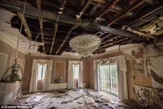 Crumbling: An abandoned ballroom in one of the houses along the so-called Billionaire's Row on The Bishops Avenue, north London
