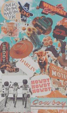 Faded Cowboy Collage  - Phone Case (iPhone & Samsung)