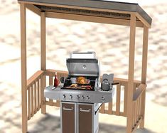 Convertible Bench to Picnic Table Combination Building Plans Grill Hut, Bbq Grill, Grilling, Grill Area, Grill Canopy, Grill Gazebo, Wood Pavilion, Patio Shade Structures, Barbecue