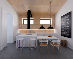 Белая кухня с деревом: 25 идей