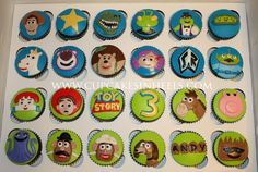 Toy Story: Toy Story 3 Blue Velvet Speciality Cupcakes: [Kyaradeko] [Disney] cup cake recipe & image collection - NAVER Summary