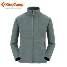 KingCamp Men's Outdoor Reversible Sports Hiking Fleece Jacket Thermal Running Basic Jacket Male Softshell Warm Thicken Sweater