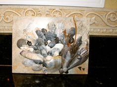 Bathroom art ~ Sea Shell & Ceramic Tile Sculpture ~ by: 'icyndi creations' #Americana, Buy it now for $80.00