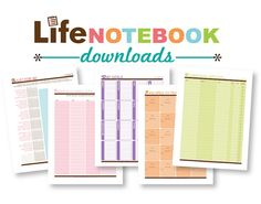 The Life Notebook (DOWNLOADS ONLY)