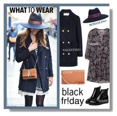 """What to Wear: Black Friday"" by lgb321 ❤ liked on Polyvore featuring GUESS, Valentino, MANGO and Borsalino"